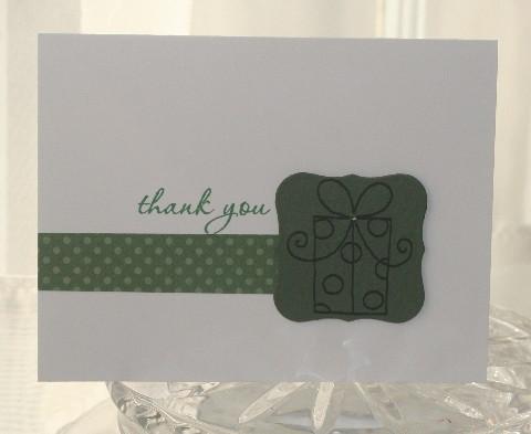 Thank you present green