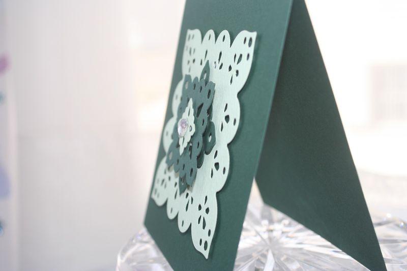 Medallion square green seide