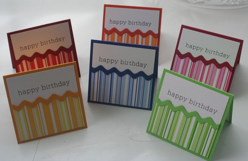 Mini card bday stripe set