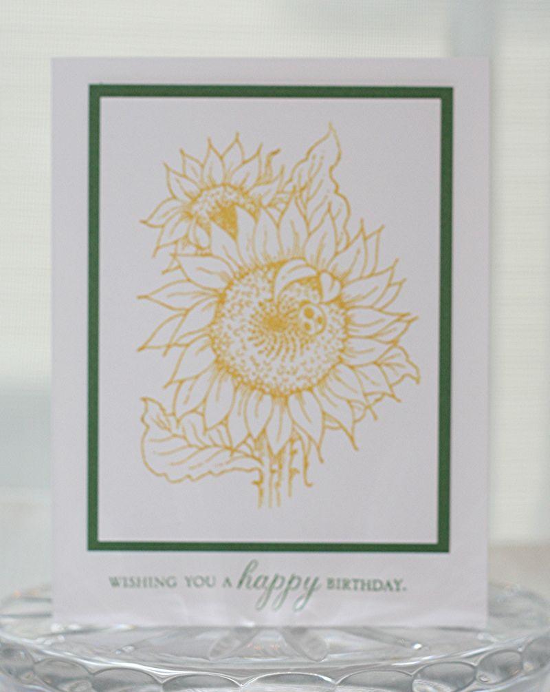 Birthday sunflower