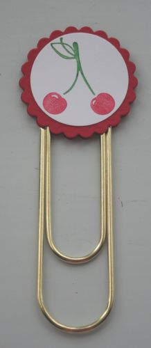 Clip bookmark cherries