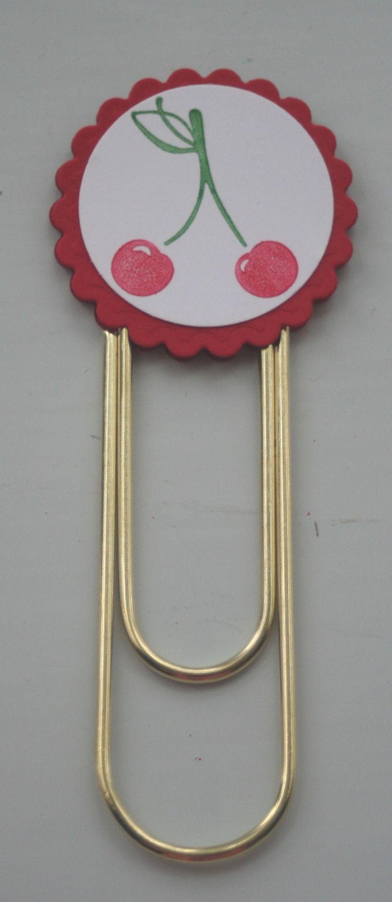 Clip bookmark cherries