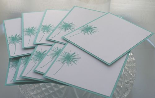 Notecard teal dandelion set