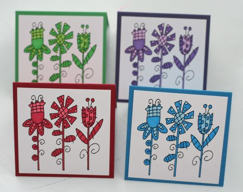 Mini card fun flower set