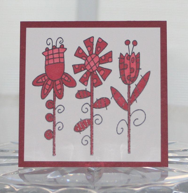 Mini fun flowers red