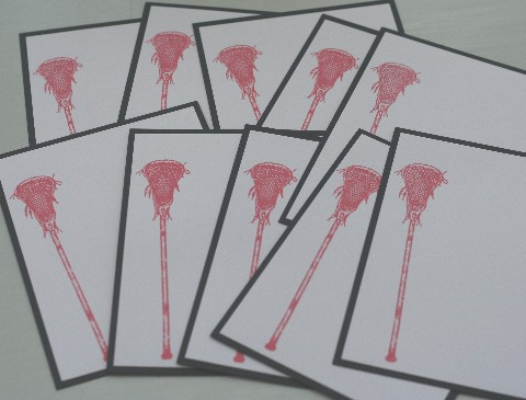Notecard lax red set