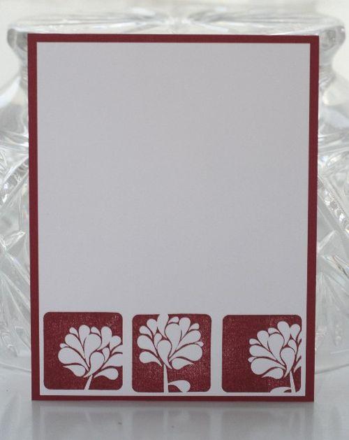 Notecard cherry flower