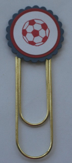 Clip bookmark soccer red