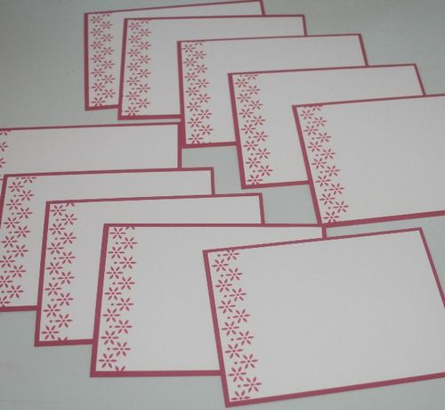 Notecard side flower red set