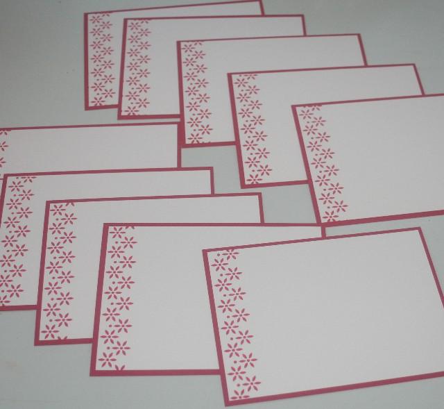Notecard side flower red set