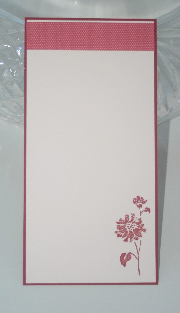 Notecard long flower red