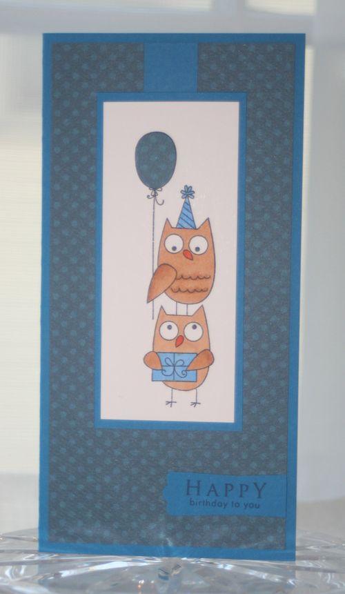 Bday owl blue