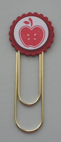 Clip bookmark apple red