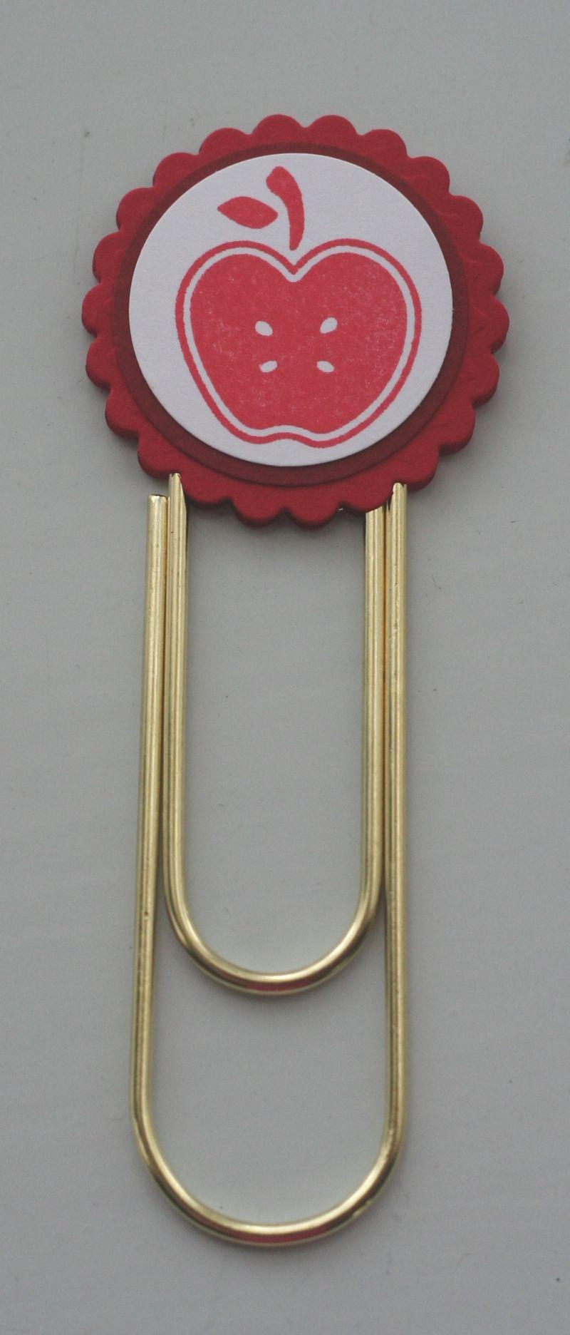 Clip bookmark apple red