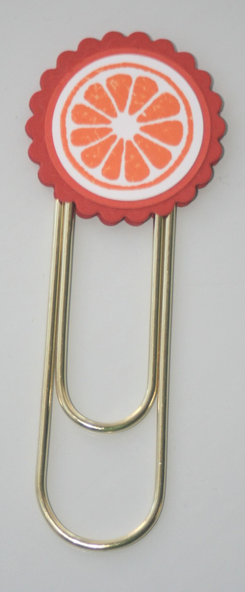 Clip bookmark orange