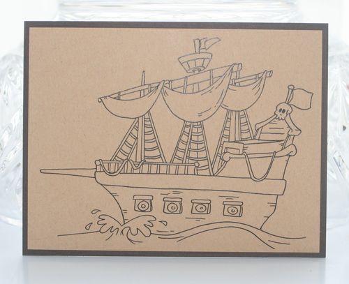 Notecard pirate ship