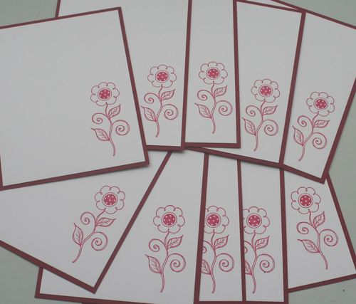 Notecard melon flower set