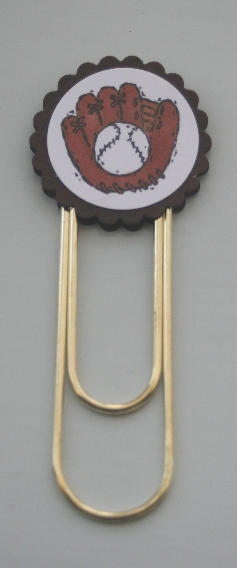 Clip bookmark baseball glove