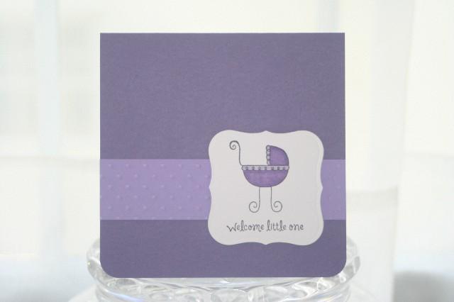 Baby purple pram