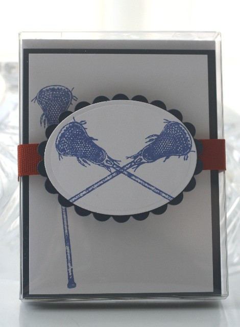 Notecard lax blue set