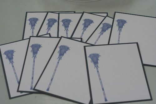 Notecard lax blue setb