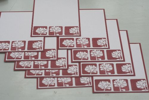 Notecard cherry flower set