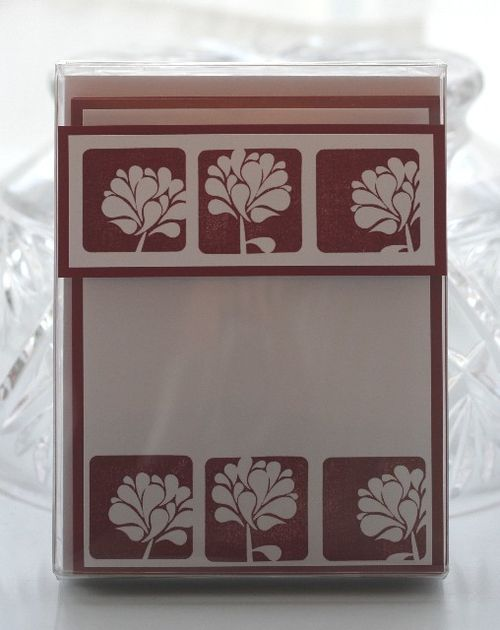 Notecard cherry flower display