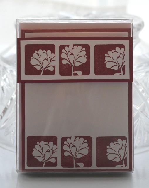 Notecard cherry flower display