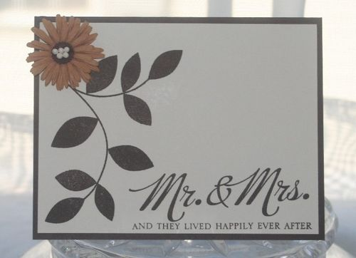 Wedding mr and mrs brown