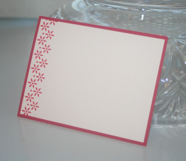 Notecard side flower red 1