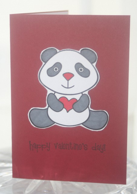 Valentine panda dark grey