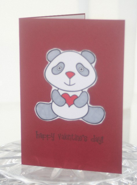 Valentine panda light grey