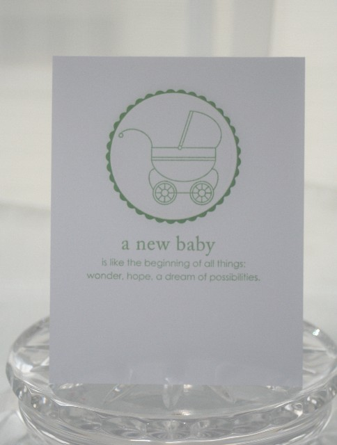 Baby green carriage