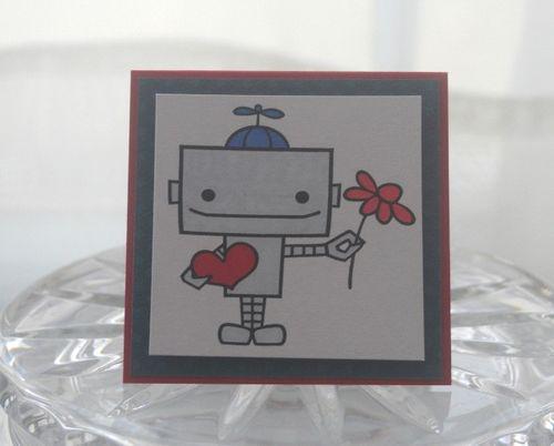 Mini robot boy heart