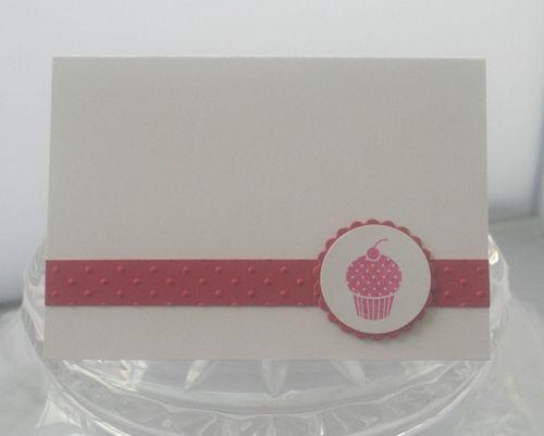 A1 cupcake pink card
