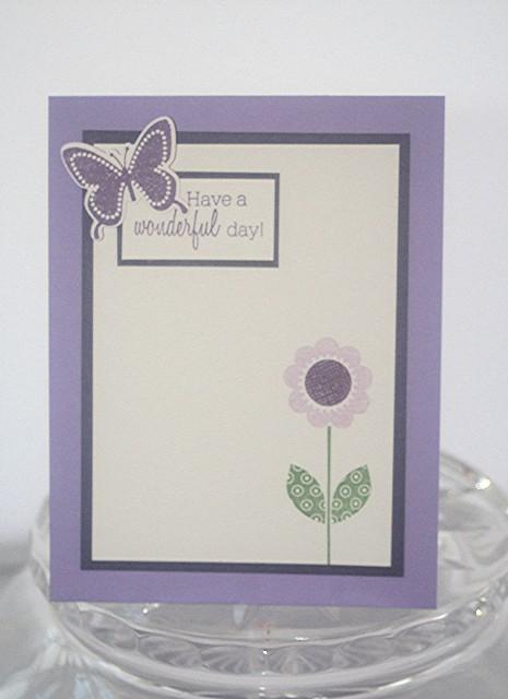 Wonderful day purple flower