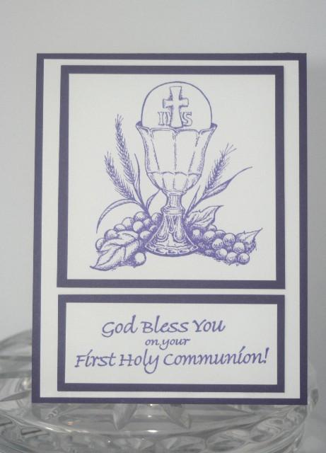 First communion purple