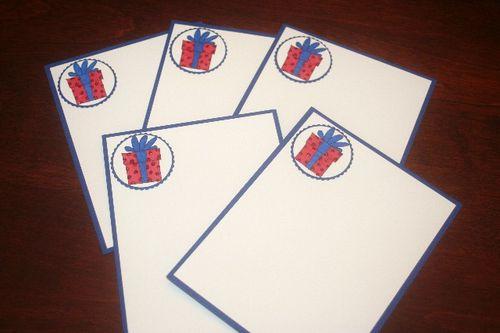 Note card present set
