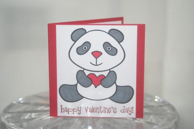 Mini panda valentine