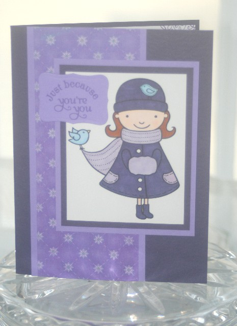 Purple girl because