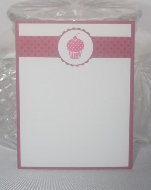 Note card cupcake pink