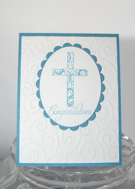 Cross congrats blue