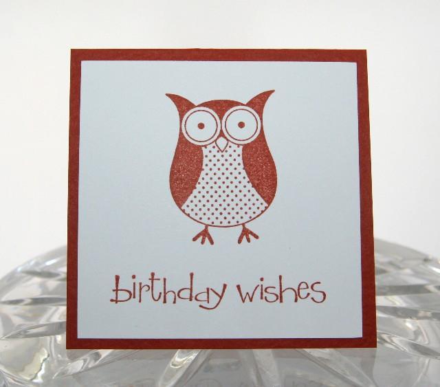 Mini owl bday