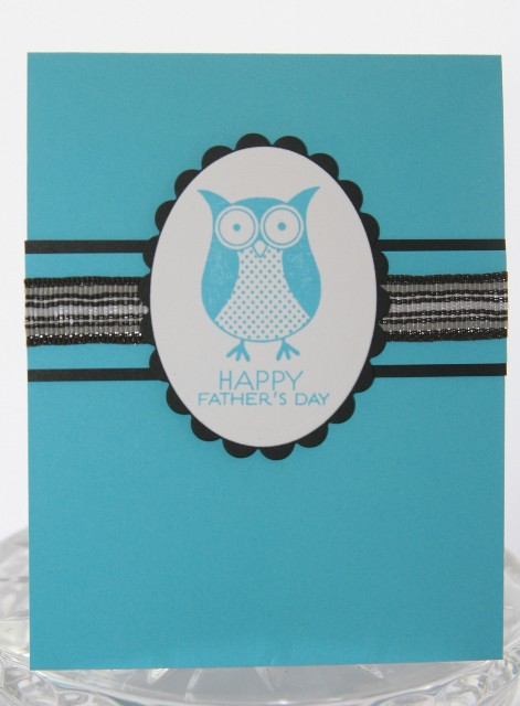 Fathers day owl blue