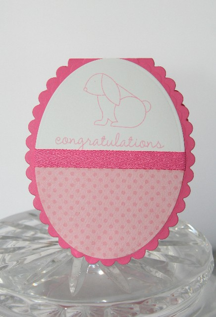 Baby pink rabbit oval