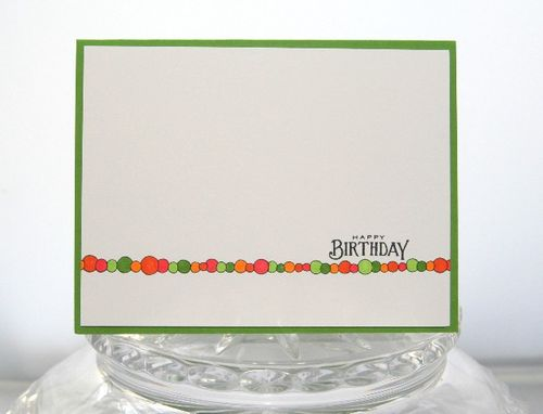 Birthday dots stripe