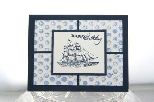 Birthday boat blue
