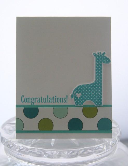 Baby giraffe blue