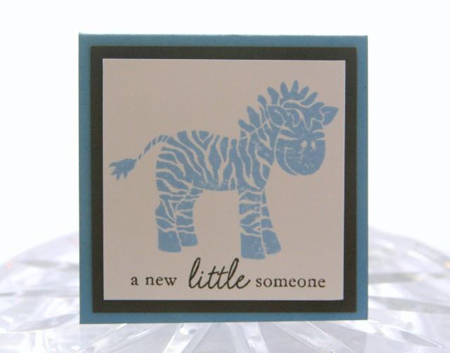 Mini zebra blue