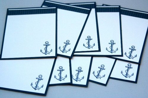 Note card anchor set